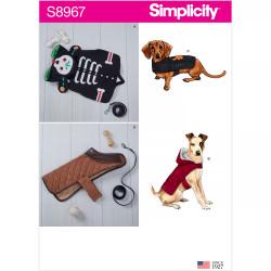 Hundedækken små hunde Simplicity snitmønster 8967