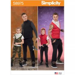 Kostume mænd og drenge snitmønster