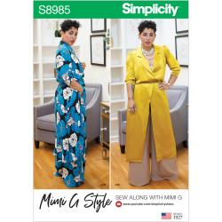 Bukser og kjole også plusmode Simplicity snitmønster 8985