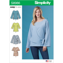 Bluse også plusmode Simplicity snitmønster 8986 easy