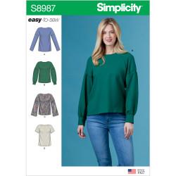 Bluse Simplicity snitmønster 8987 easy