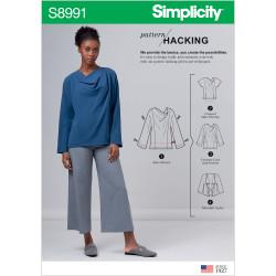 Bluse og jakke Simplicity snitmønster 8991