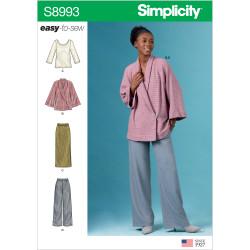 Bukser nederdel og jakke Simplicity snitmønster 8993 easy