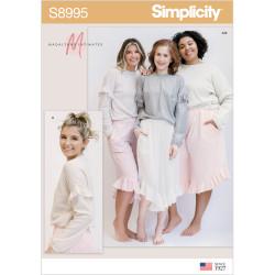 Flæse bukser og bluse Simplicity snitmønster 8995