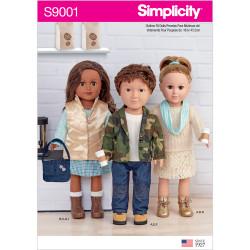 Dukketøj 45,5 cm dukke Simplicity snitmønster 9001