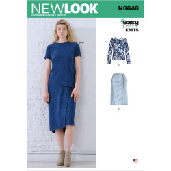 Bluse og nederdel New look snitmønster 6646