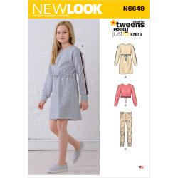 T-shirtkjole bukser og bluse New look snitmønster 6649