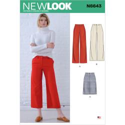 Bukser og nederdel New look snitmønster 6643