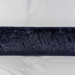 Mørk marineblå Nervøst velour metervare 100 % polyester