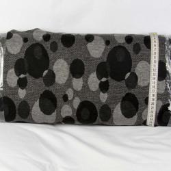 Vinterjersey Lys grå-grå-sort metervare 70 % Viscose 25% Polyester 5% Lycra
