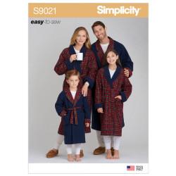 Morgenkåbe Simplicity snitmønster 9021 A