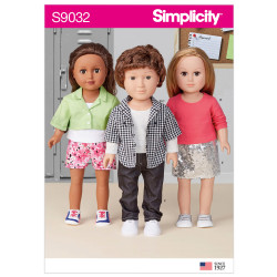 Dukketøj 45,5 cm dukke Simplicity snitmønster 9032 OS