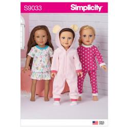 Dukketøj 45,5 cm dukke Simplicity snitmønster 9033 OS