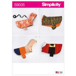 Hundetøj Simplicity snitmønster 9035 A