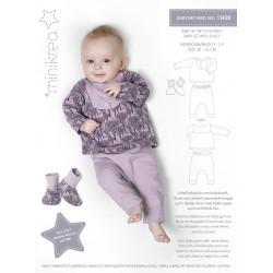 Babysæt m/sko Minikrea snitmønster