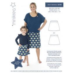 Jersey nederdel Minikrea snitmønster