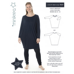 Loose fit jersey kjole også plusmode Minikrea snitmønster