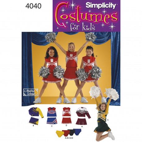 Cheerleader Outfit kostume snitmønster simplicity 4040