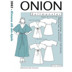 Kimono slå-om kjole Onion snitmønster 8083