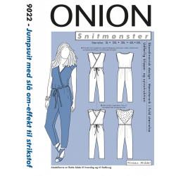 Jumpsuit m/slå-om effekt plusmode Onion snitmønster 9022