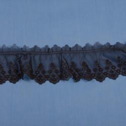 Chokoladebrun blonde m/rynk 6 cm bred