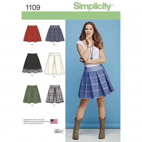 Nederdel snitmønster Simplicity 1109