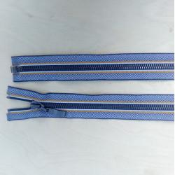 6mm delbar jakke lynlås sildeben/marineblå/okkergul/gunmetal