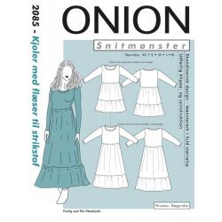 Kjole m/flæser Onion snitmønster
