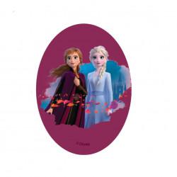 Anna & Elsa printet strygelap 11x8 cm