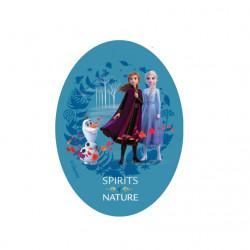 Anna, Elsa og Olaf Printet strygemærke 11x8 cm