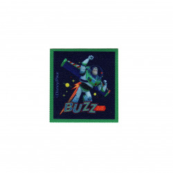 Buzz printet strygemærke 6,5x6 cm
