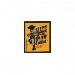 Woody printet strygemærke 6,5x5,5 cm
