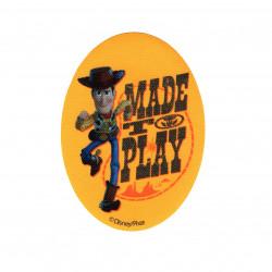 Woody printet strygelap 11x8 cm