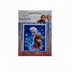 Anna & Elsa Broderet strygemærke 7x6 cm