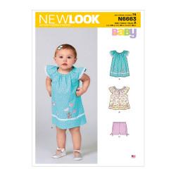 Babykjole og shorts New look snitmønster