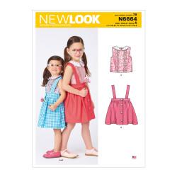 Nederdel og bluse pigetøj New look snitmønster