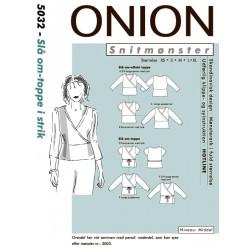 Slå om - toppe i strik Onion snitmønster