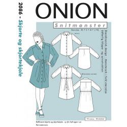 Skjorte og skjortekjole Onion snitmønster
