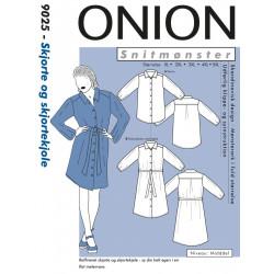 Skjorte og skjortekjole Onion snitmønster plusmode 9025