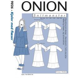Kjoler m/flæser Onion plus mode snitmønster 9026