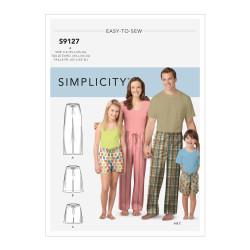 Pyjamasbukser voksen / barn snitmønstre