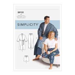 Pyjamasbukser og badekåbe herre/dame snitmønster