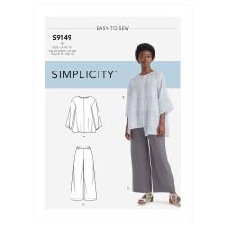 Bluse og bukser også plusmode snitmønster 9149 Simplicity