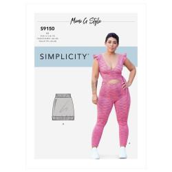 Jumpsuit og nederdel også plusmode snitmønster 9150 Simplicity