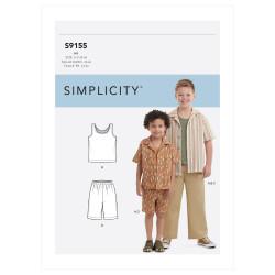 Drengetøj bukser og skjorte snitmønster