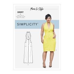 Jumpsuit og kjole også plusmode snitmønster 9097 Simplicity