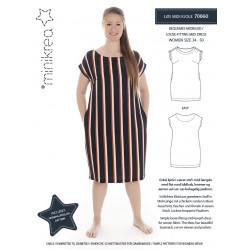Løs Midi kjole Minikrea snitmønster også plusmode