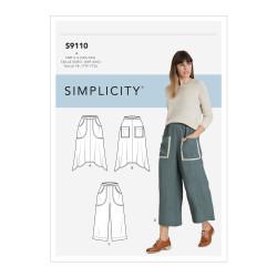 Bukser og nederdel m/lommer snitmønster 9110 Simplicity
