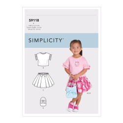 Pigetøj snitmønster 9118 Simplicity