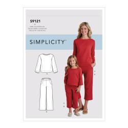 Bukser og bluse til mor og barn snitmønster